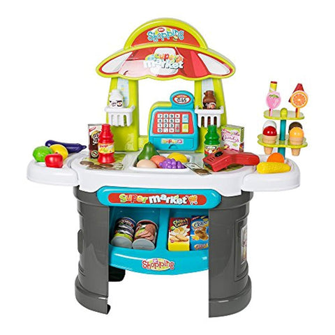 Bosonshop Luxury Supermarket Grocery Store Playset for Kids