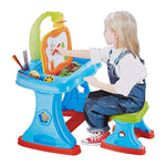 Bosonshop Projector Colorful Learning Desk 4 in 1 Lamp, Projection Painting and Spelling Sketch