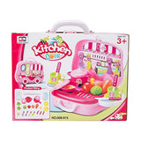 Bosonshop Plastics Pretend Play Kitchen Food Kit with Stove and Vegetables