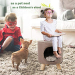 Bosonshop Pet Cat Dog House Kitten Puppy Nest Bed Kennel with Soft Comfort Cushion, Easy to Assemble