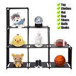 Bosonshop 3-Tier, 6-Cube Storage Cube Closet Organizer Shelf for Bedroom Living Room Office(Black)