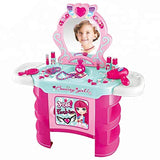 Bosonshop Pretend Play Kids Vanity Dressing Table Beauty Play Set Toy, Pink
