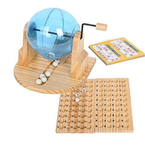 Bosonshop Fun Toy Deluxe Cage Bingo Lotto Game with Balls & Cards & Marker