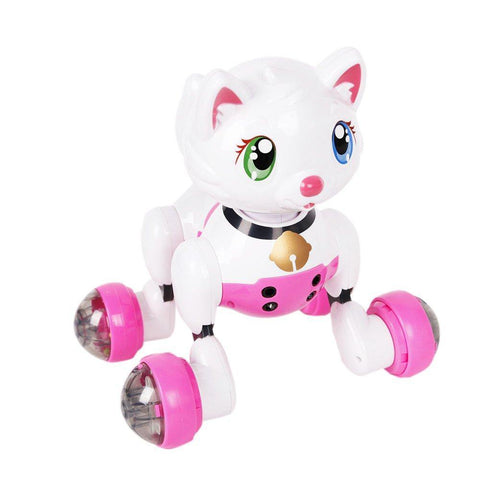 Bosonshop Interactive Cat Voice Recognition Electronic Robot Toy Cat Dancing Pet for Kid