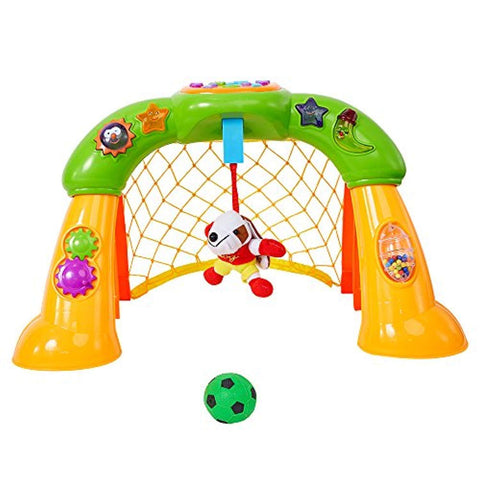 Bosonshop 2 in 1 Football Game Toy Kids Toys Gifts Soccer Scoring Goal Game with Music & Light