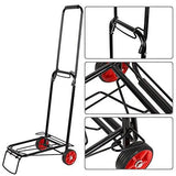 Bosonshop Aluminum Folding Hand Truck Multi-Use Cart for Luggage, with Wheels, 55lbs(Black)