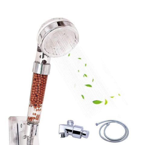 Filtered Anion Shower Head High Pressure & Save Water Multi Function Shower Head  With 3 Spray Settings For Bathroom