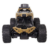Bosonshop Electric RC Car 1:18 Remote Control Vehicle 2.4Ghz Off-Road Rock Crawler All Terrain Double-turn Waterproof Truck for Kids