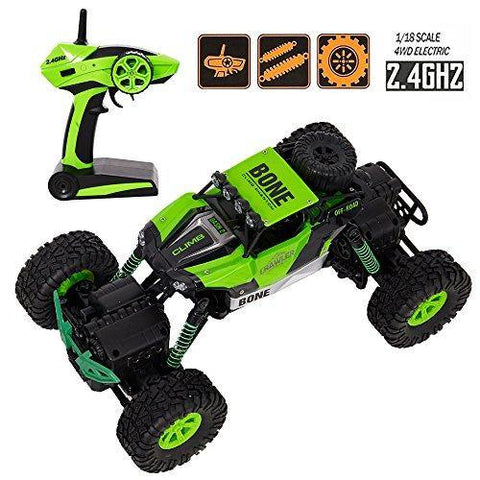 Bosonshop Electric RC Car 1:16 Remote Control Vehicle 2.4Ghz Off-Road Rock Crawler All Terrain Double-turn Waterproof Truck for Kids
