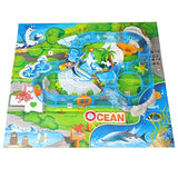 Bosonshop 69 Pcs Ocean Track Children's Playground Parenting Fishing Game, Educatioal toys for toddlers