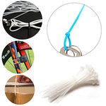 Bosonshop 650 pc Nylon Zip Ties Cable Wire Ties Adjustable Self-Locking Multi-Color for Home, Outdoor, Office