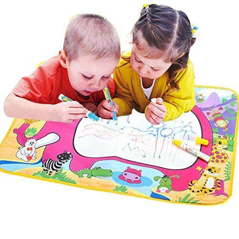 Bosonshop Water Paint Mat Educational Toy Draw Mat with Pen for Kids