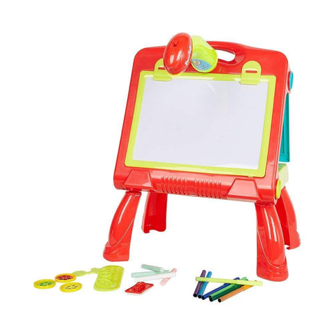 Bosonshop Educational Development Drawing Toy Study Table with Projector Toy for Girls & Boys Ages 6 7 8 9