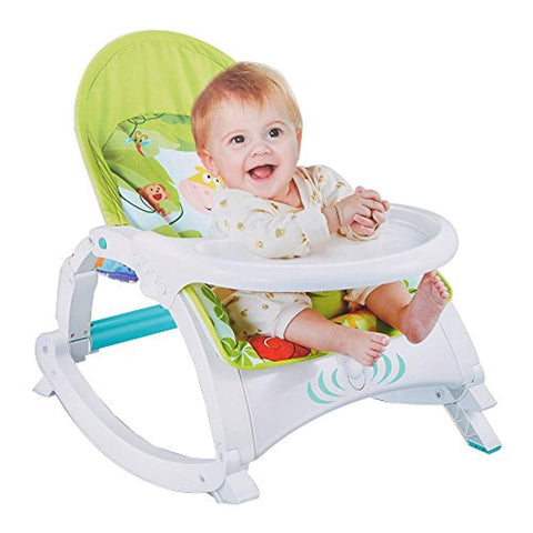 Bosonshop Newborn toToddler Portable Rocker with Dinner Table Boy