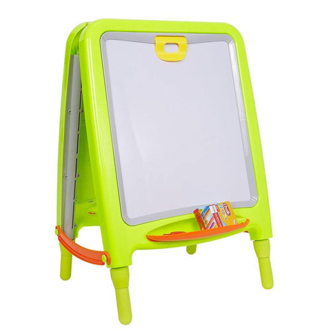 Bosonshop 2 in 1 Double Sided Metal Board Magnetic Painting Easel Adjustable Height Art Painter