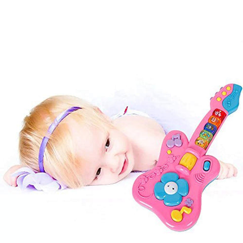 Bosonshop Kids Cartoon Guitar Musical Instruments Children Early Education Gift