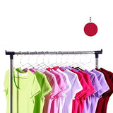 Bosonshop Double Rods Adjustable Clothes Rack Rolling Garment Rack with Shoe storage and Bottom Wheels