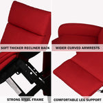 Fabric Recliner Chair Adjustable Single Sofa Home Theater Seating Recliner Reading Sofa for Living Room & Bedroom, Red
