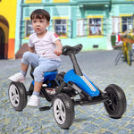 Pedal Go Kart Ride on Toys 4 Wheel Kids' Pedal Car Racer with EVA Rubber Tires for Outdoor for Boys & Girls