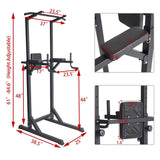 Heavy Duty Adjustable Power Tower Multi-Function Strength Training Dip Stand Workout Station Fitness Equipment for Home Gym