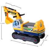 Bosonshop Pedal Lift Excavator Truck Crane Toy Pretend Play Construction Truck