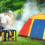 Bosonshop Outdoor Easy Setup 8 Person Large Family Tent with Portable Bag, Red