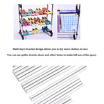 Bosonshop Portable Single Rod Extendable Clothes Rack Adjustable Garment Rack