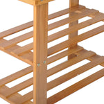 "Bosonshop 2- Tier Bamboo Shoe Bench Rack Shoe Storage 19.7"" x 10.6"" x 17.5"" (L x W x H)"