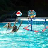 Bosonshop 2 in 1 Water Sport Game ,Water Polo with Basketball Stand for Play