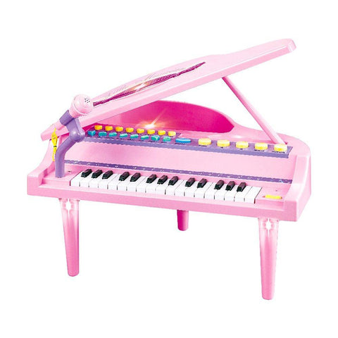Bosonshop 32 Keys Little Pink Piano for Girls with Microphone Electronic Organ Music Keyboard for Kids, Pink