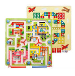Bosonshop City Traffic Maze Puzzle Interactive Maze Pen Driving Beads Maze on Board