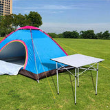 Bosonshop Folding Camp Table Portable Compact Aluminum Outdoor Tables with Carry Bag for Camping