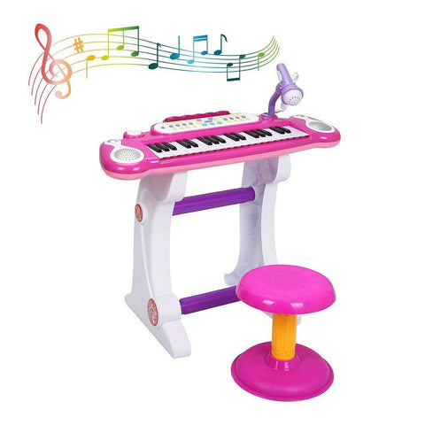 Bosonshop Musical Kids Electronic Keyboard 37 Key Piano with Microphone
