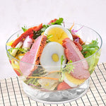 Bosonshop Serving Salad On Ice Bowl with Dome Lid and Vented Ice Chamber,Salad/Fruits/Seafood Servers