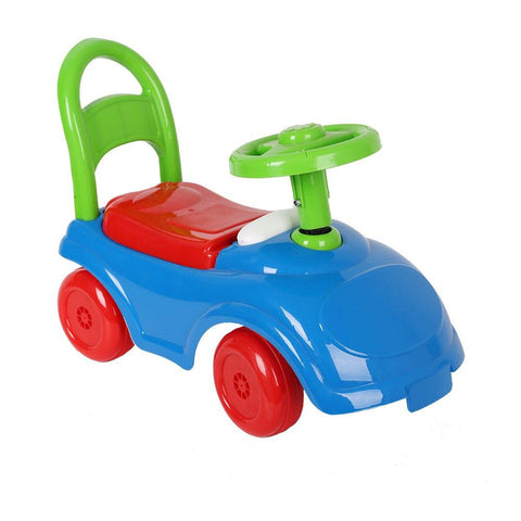 Bosonshop Baby's Toy Ride On Cartoon Car Beep Sound, Blue