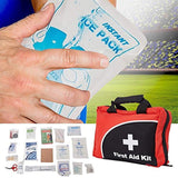 Bosonshop 110 Pieces FDA Approved First Aid Kit Compact Emergency Survival Kit Home School, Office