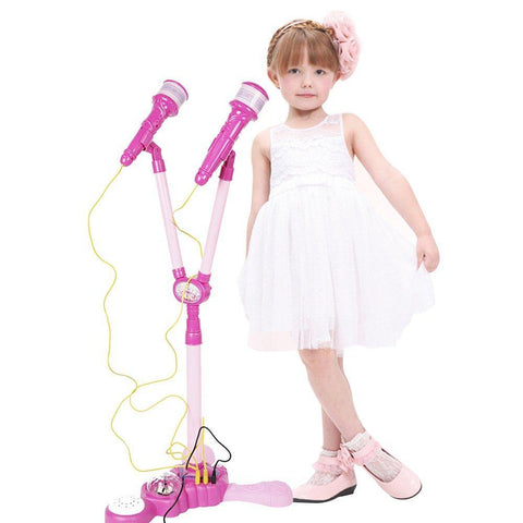 Bosonshop Girls Voice Microphone Karaoke Singing Funny Gift MP3 Music Toy
