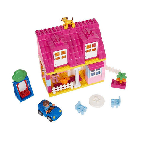 Bosonshop Children Dream Home Building Playset Blocks for Creativity Educational Toy