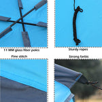 Bosonshop Outdoor Camping Tents, Sun Awning Waterproof, Large Triangle Shade, Blue
