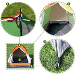 Bosonshop Outdoor Lightweight Portable Single Person Easy SetUp Tent with Carry Bag