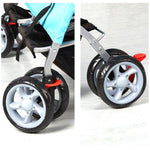 Bosonshop Folding Pet Stroller with 360 Rotating Front Wheel