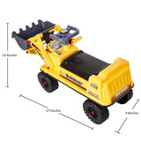 Bosonshop Pedal Bulldozer Pretending Toy Engineering Construction Truck