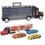 Bosonshop Transporter Vehicle with Die Cast Metal Truck Car
