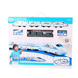 Bosonshop Battery Operated Toy Train Track Railway Play Set Train with Lights & Music