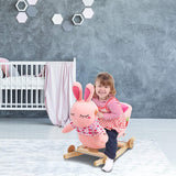 Bosonshop Stuffed Animal Rocker Wooden & Plush Rocking Horse Chair for Toddlers