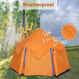 2 Person Camping Instant Pop-up Tent, Sun Shelter Waterproof Double Layer 4 Seasons Lightweight Tent for Hiking, Fishing, Beach
