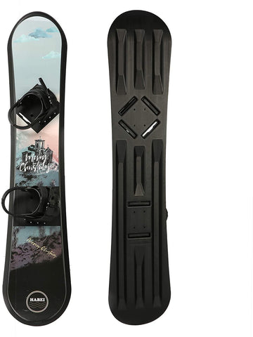 Snowboard for Kids Beginners - Adjustable Step-in Bindings Winter Sport Ski Snow Board - 50 inches Length + Ages 5 to 18 + Weight Limit 120 lbs