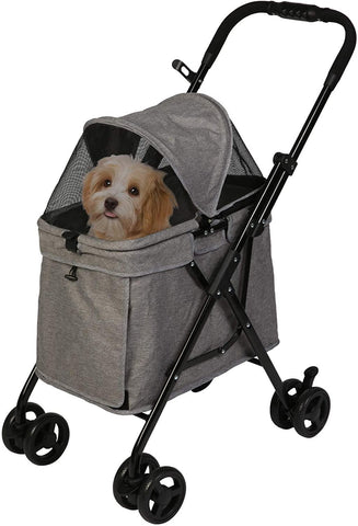 Luxury 4 Wheels Folding Pet Stroller for Medium Dogs Cats