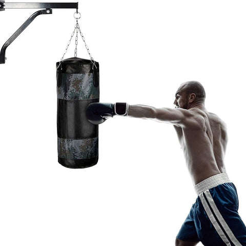 Wall Mount Heavy Bag Steel Hanger Racket for Boxing Punch Bag Speed Bag at Home & Gym Indoor Outdoor Exercise