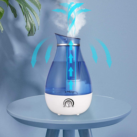 Humidifiers for Bedroom Quiet Ultrasonic Cool Mist Humidifier 2.5L with Auto Shut-Off, Night Light and Adjustable Mist Output, Less Than 30dB, Blue